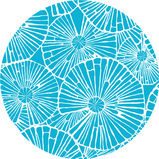 pattern - full circle turquoise