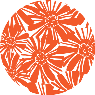 pattern - mosaic floral orange